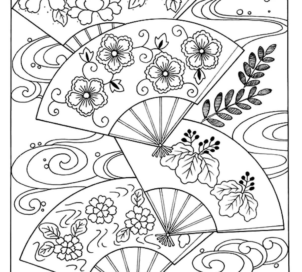 Japanese Garden Coloring Pages At Getcolorings