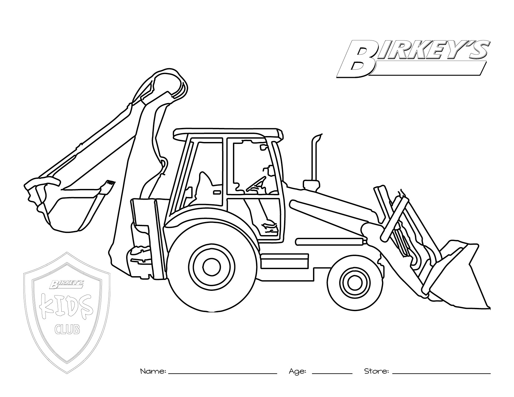 John Deere Combine Coloring Pages At Getcolorings