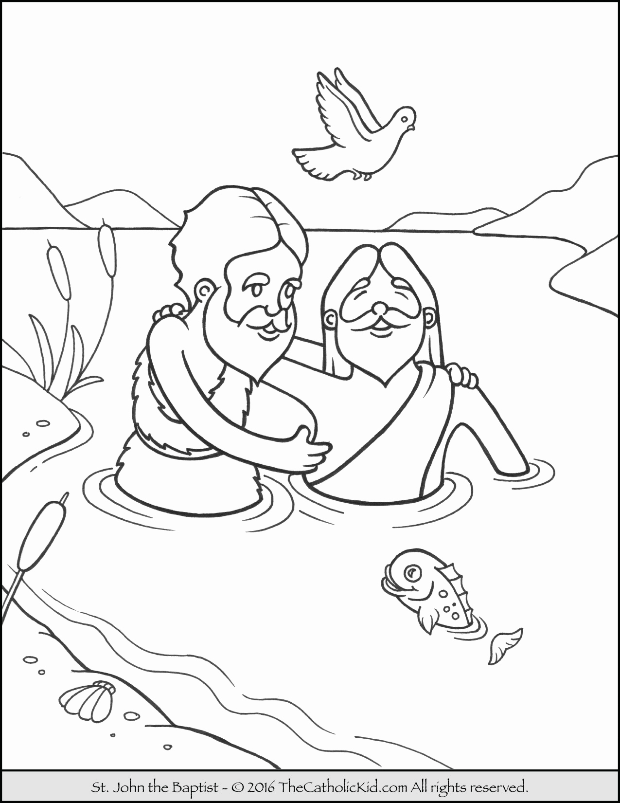 John The Baptist Coloring Pages Printable At Getcolorings