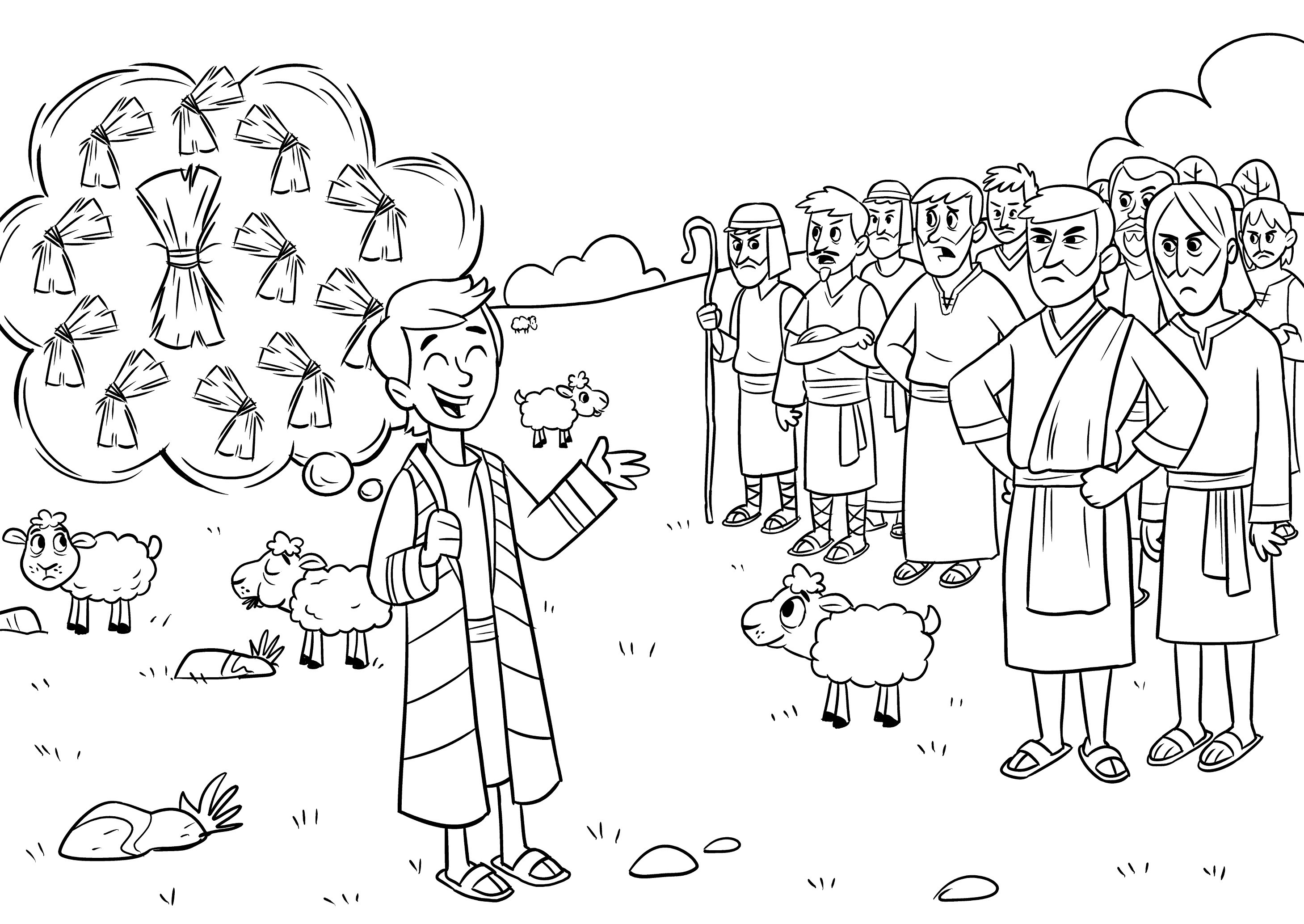 Joseph Son Of Jacob Coloring Pages At Getcolorings