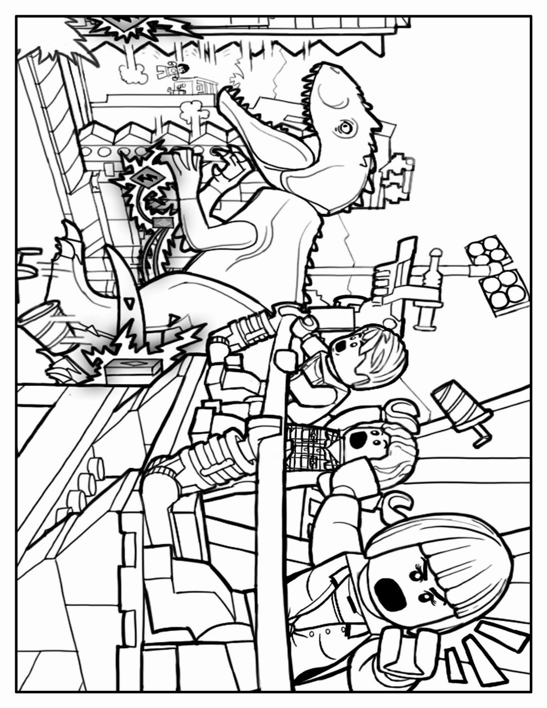 Jurassic Park Coloring Pages T Rex At Getcolorings
