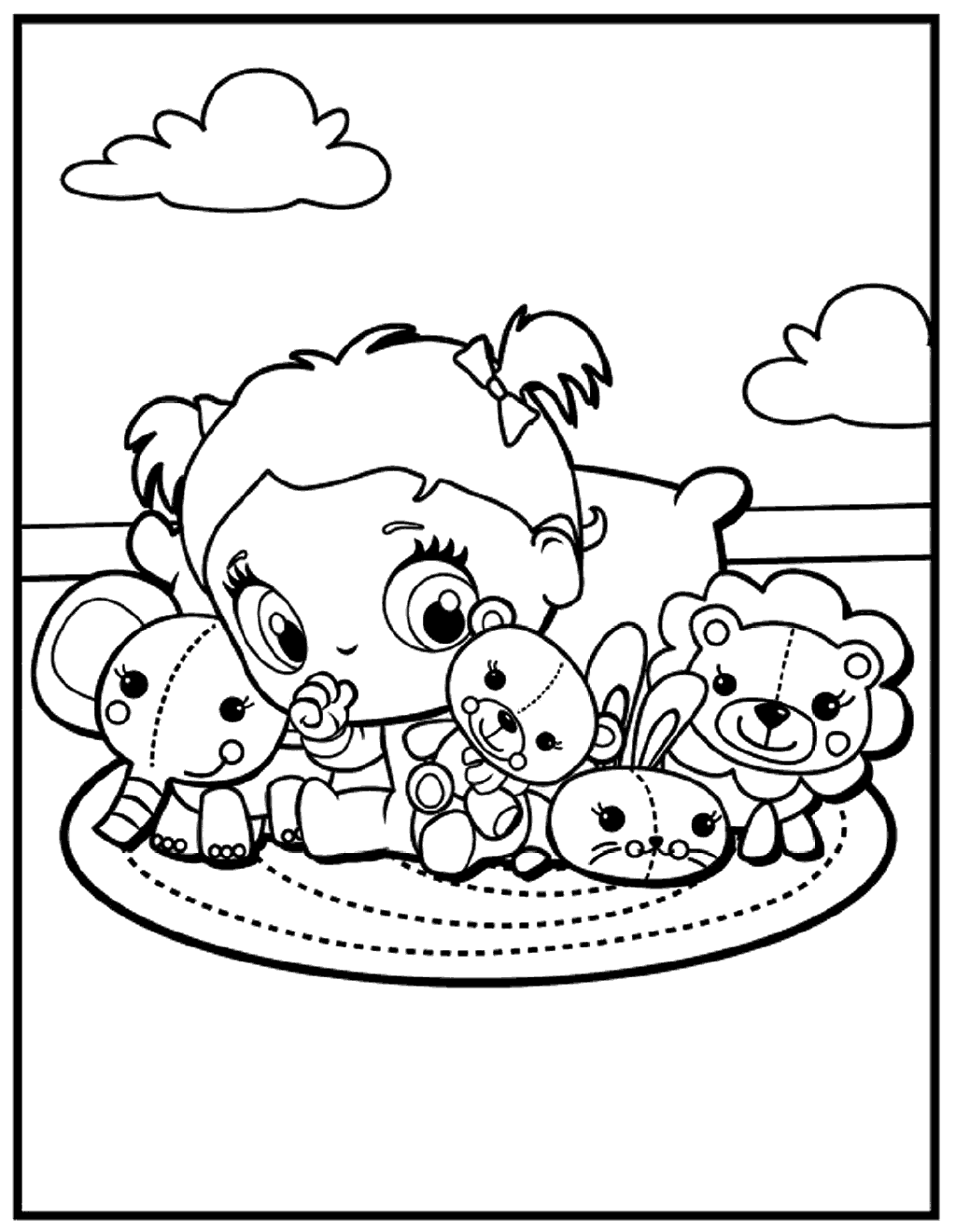 Kawaii Animal Coloring Pages At Getcolorings