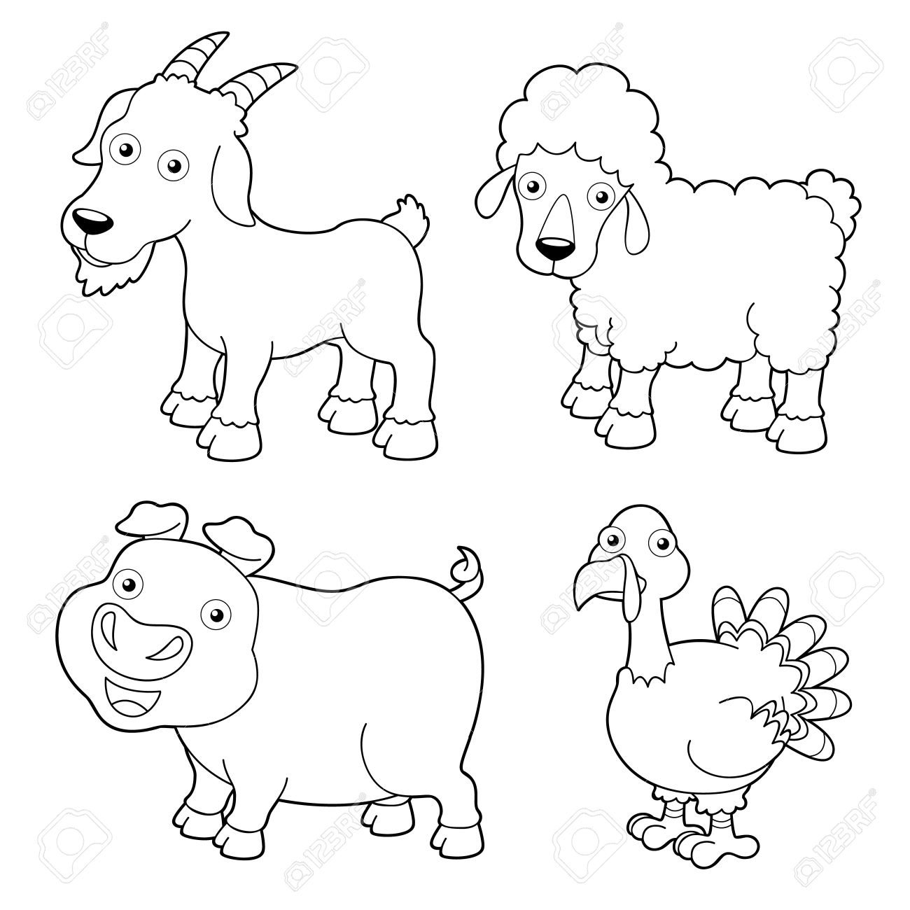 Kids Coloring Pages Farm Animals At Getcolorings