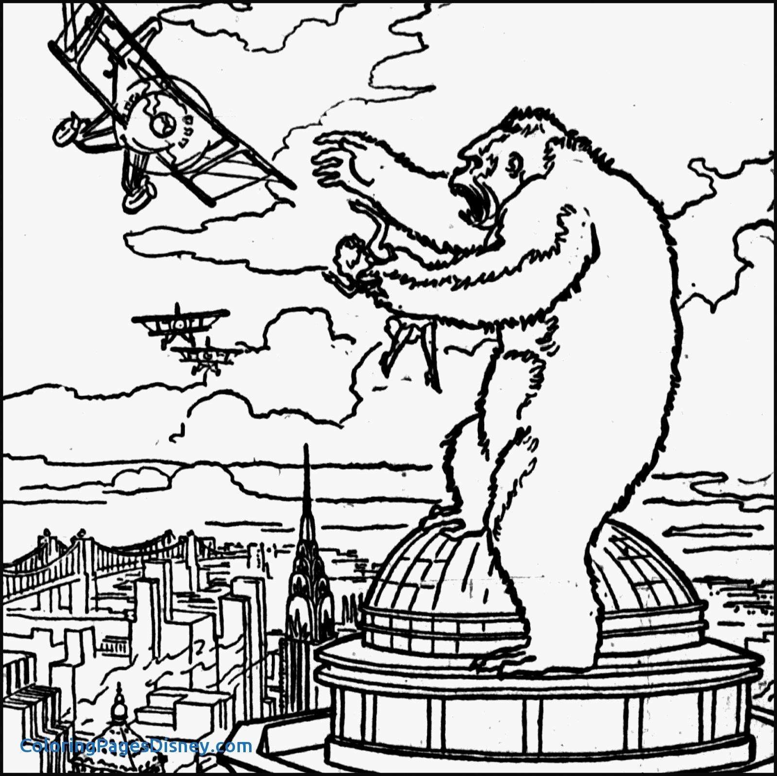 King Kong Coloring Pages At Getcolorings