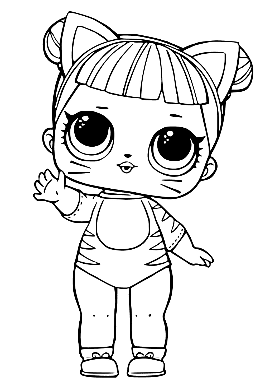 Flower Child Series 3 Lol Surprise Doll Coloring Page Dibujos