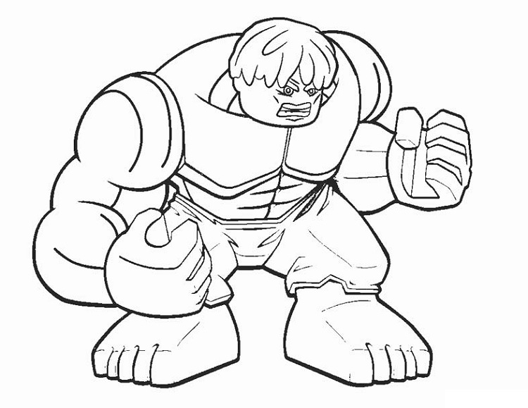 Lego Hulk Coloring Pages Free Download Coloring Langkung
