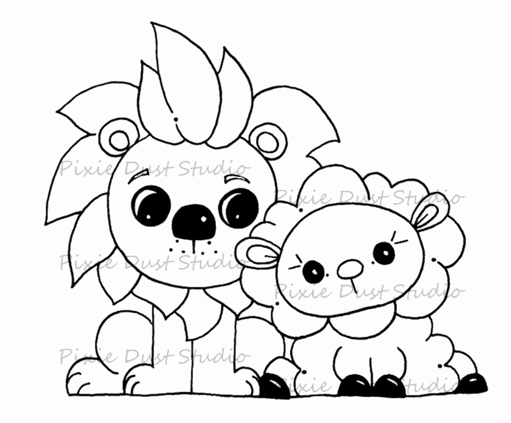 Lion Lamb Coloring Page At Getcolorings