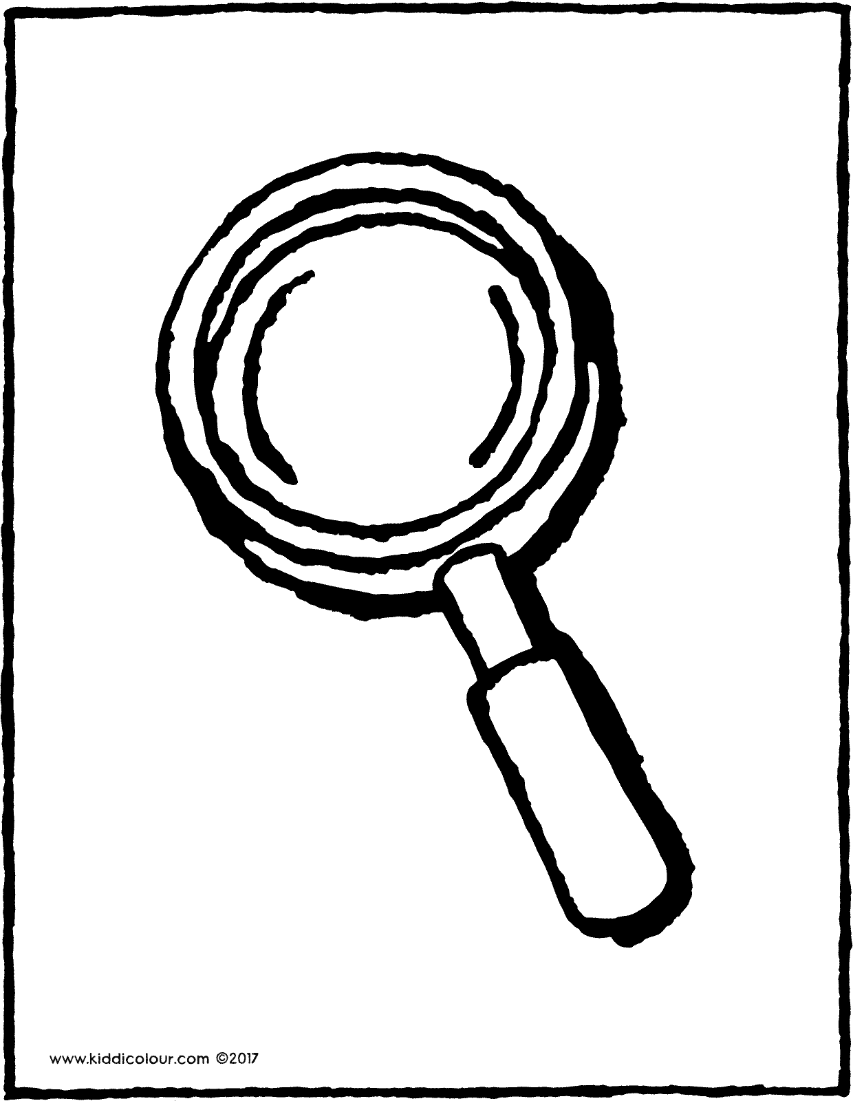 Magnifying Glass Coloring Page At Getcolorings