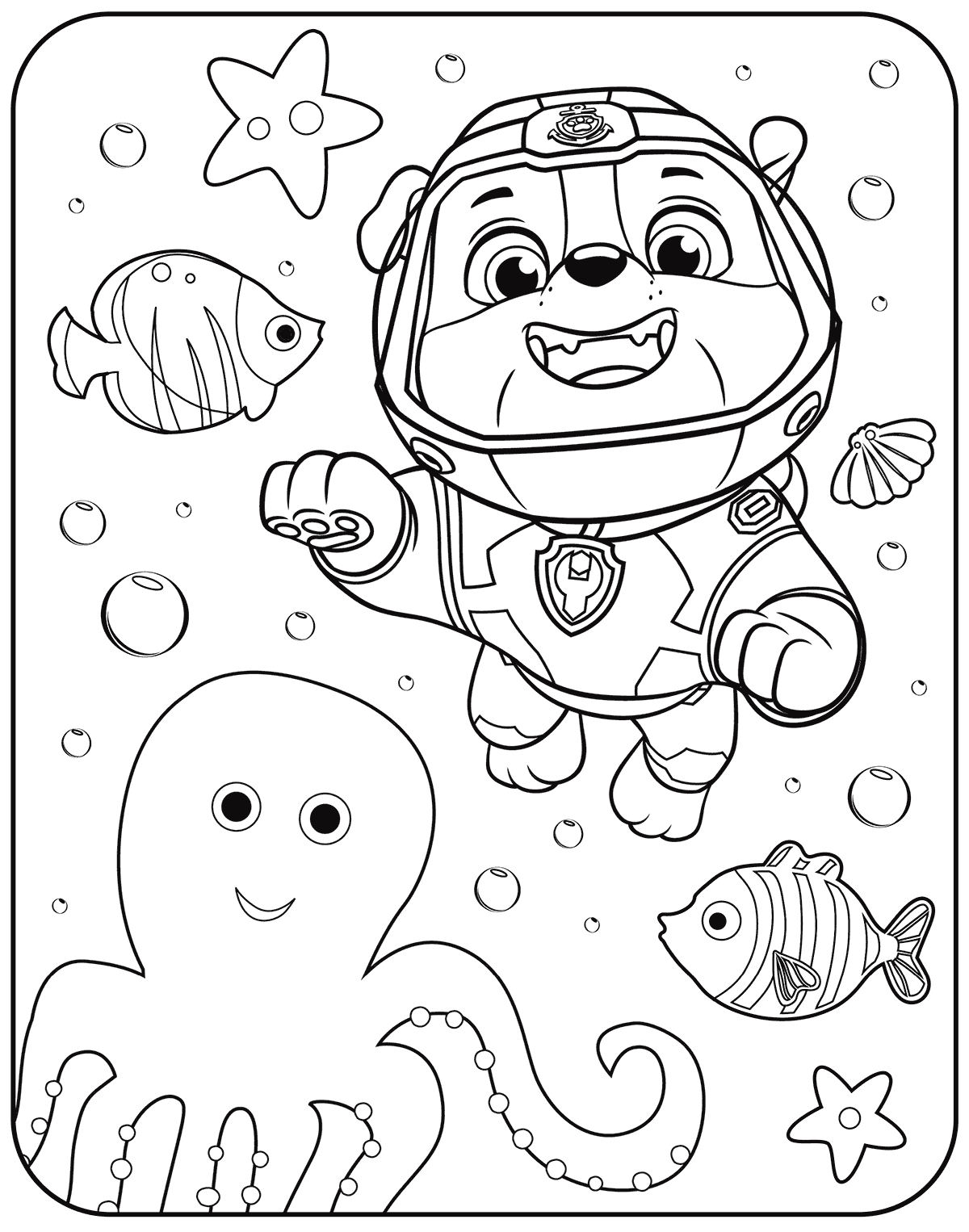 Marshall Paw Patrol Coloring Page At Getcolorings