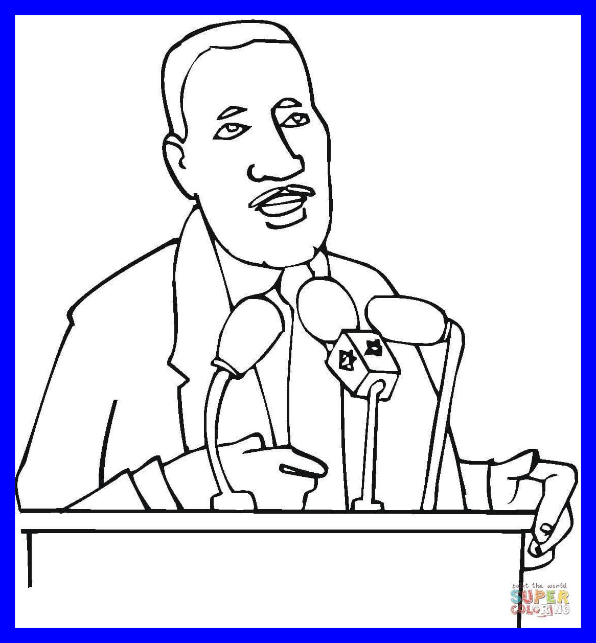 Martin Luther King Coloring Pages Printable At