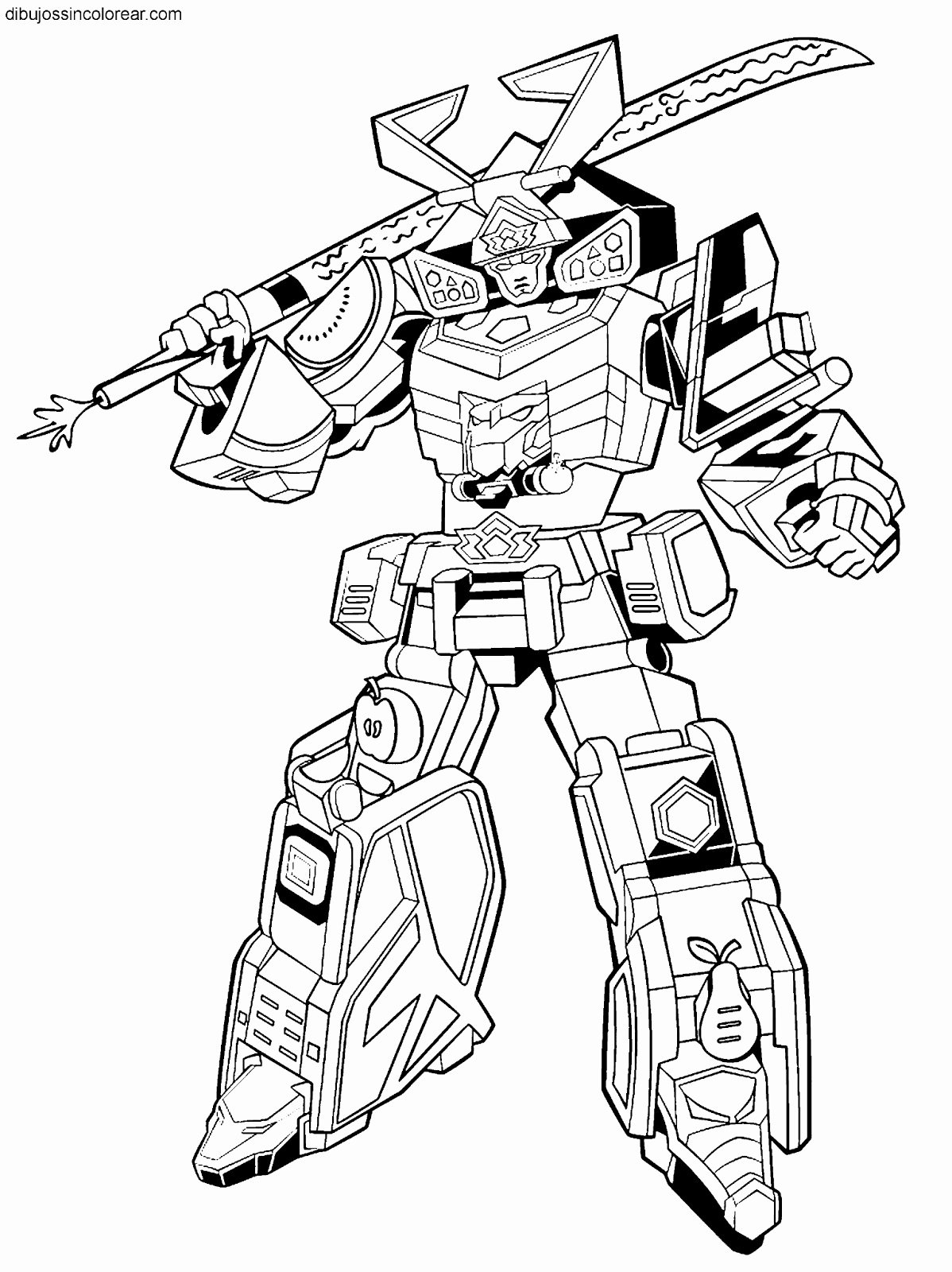 Megazord Coloring Pages At Getcolorings