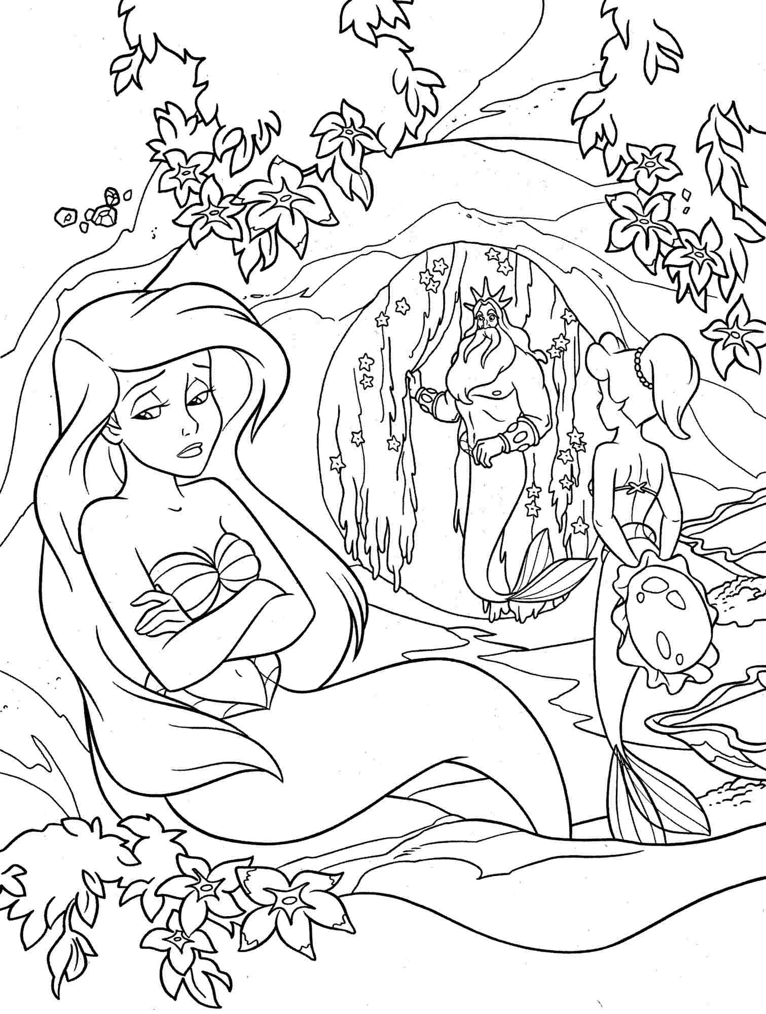 Mermaid Coloring Pages At Getcolorings