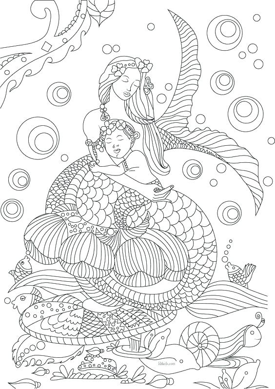 mermaid fairy coloring pages at getcolorings  free