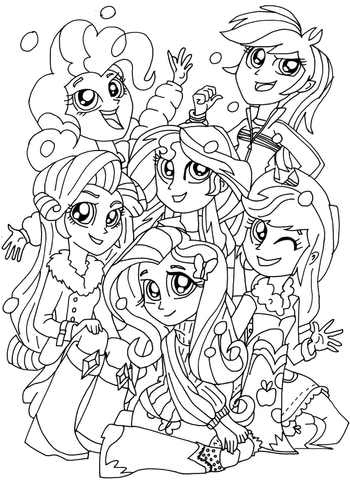 Mlp Eg Coloring Pages At Getcolorings