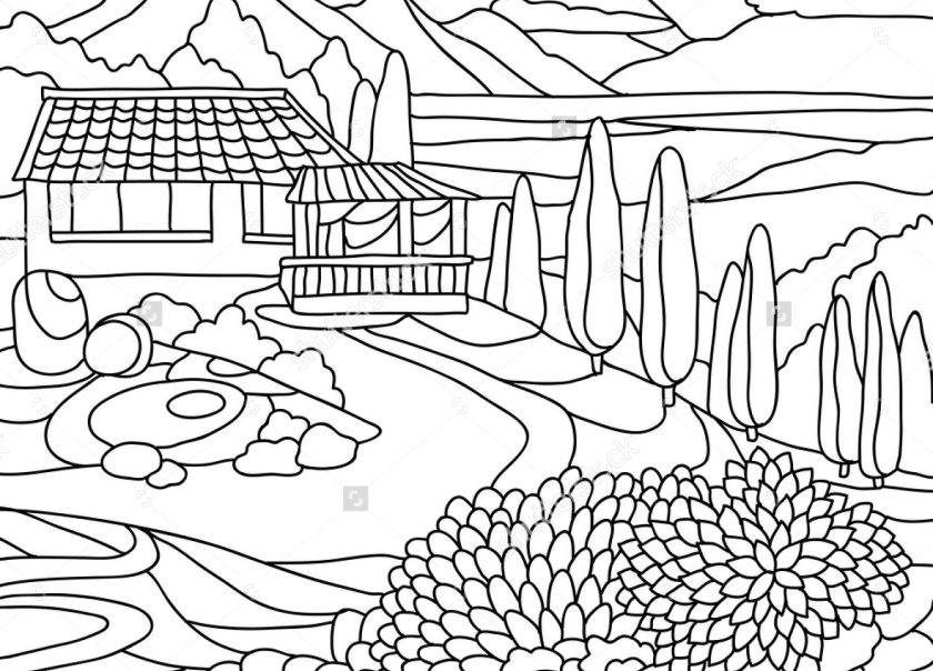 mountain scenery coloring pages at getcolorings  free