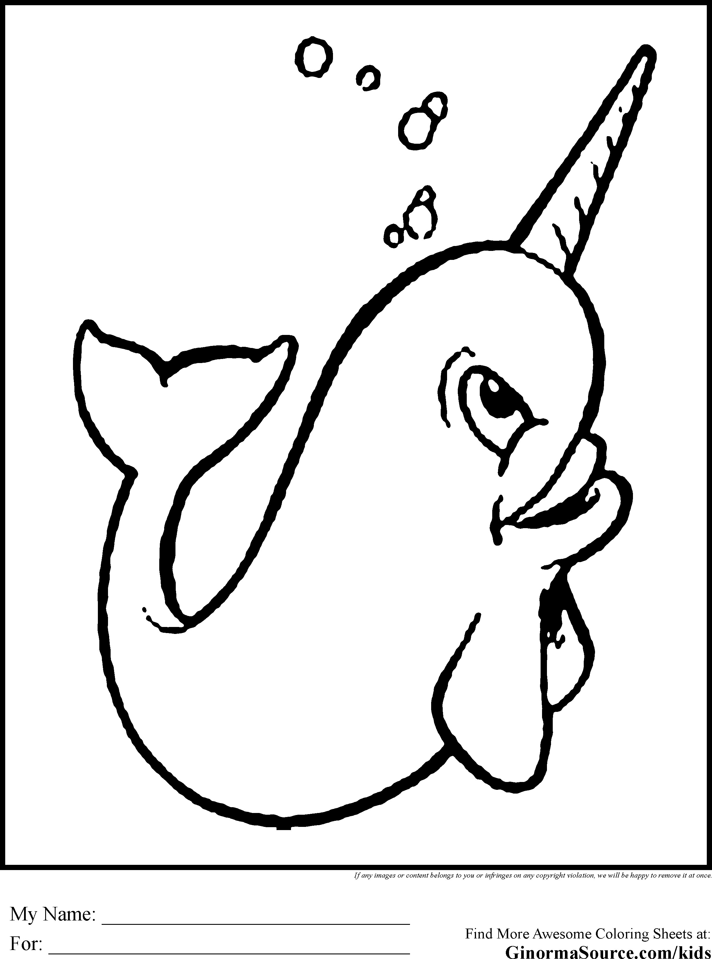 Narwhal Coloring Page At Getcolorings