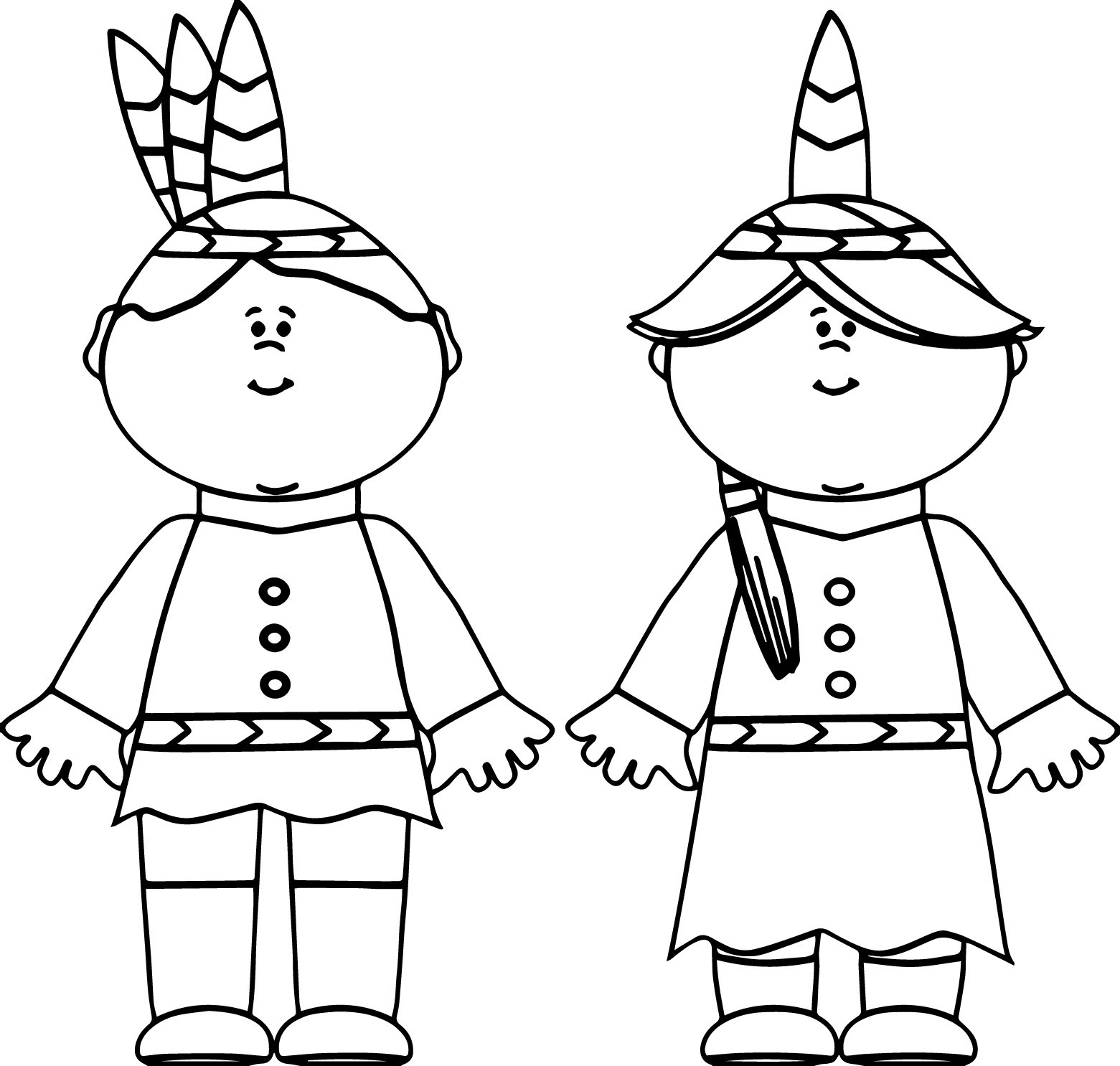Native American Girl Coloring Page At Getcolorings