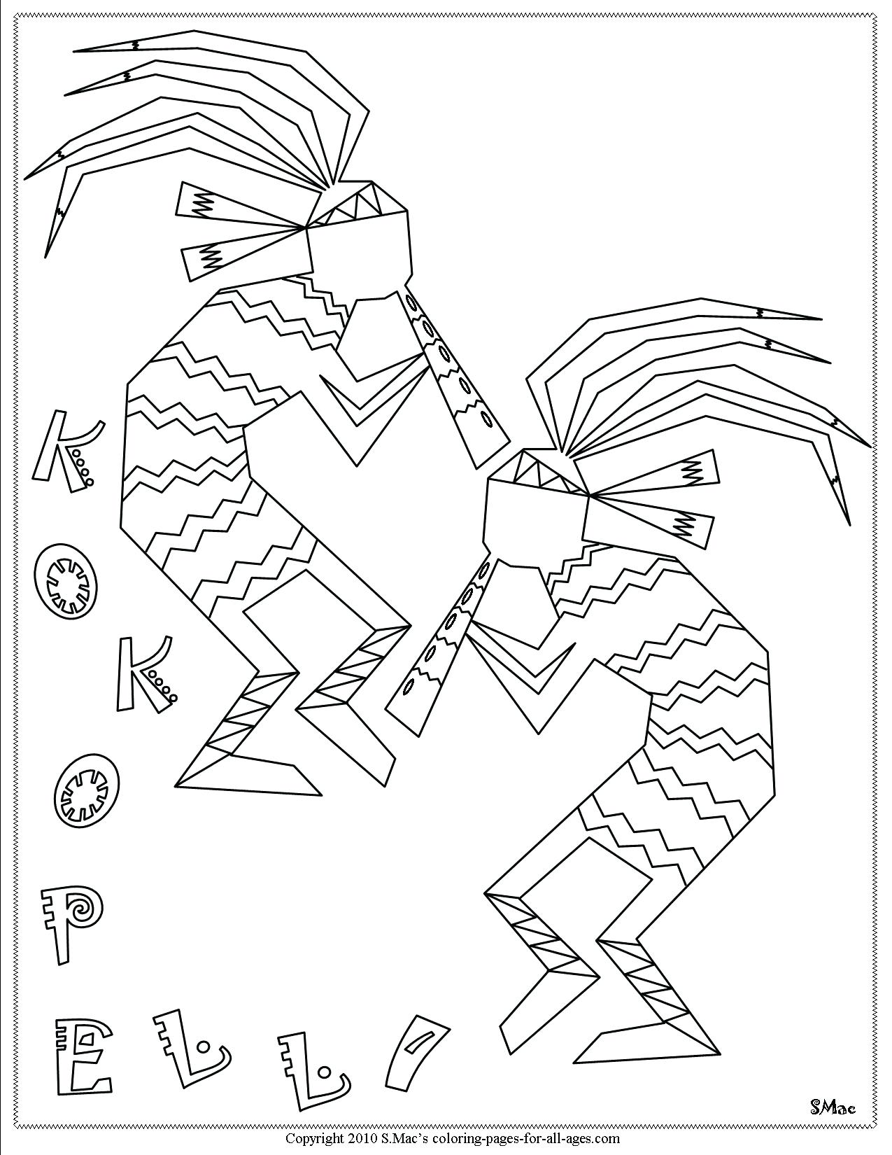 Native American Symbols Coloring Pages At Getcolorings