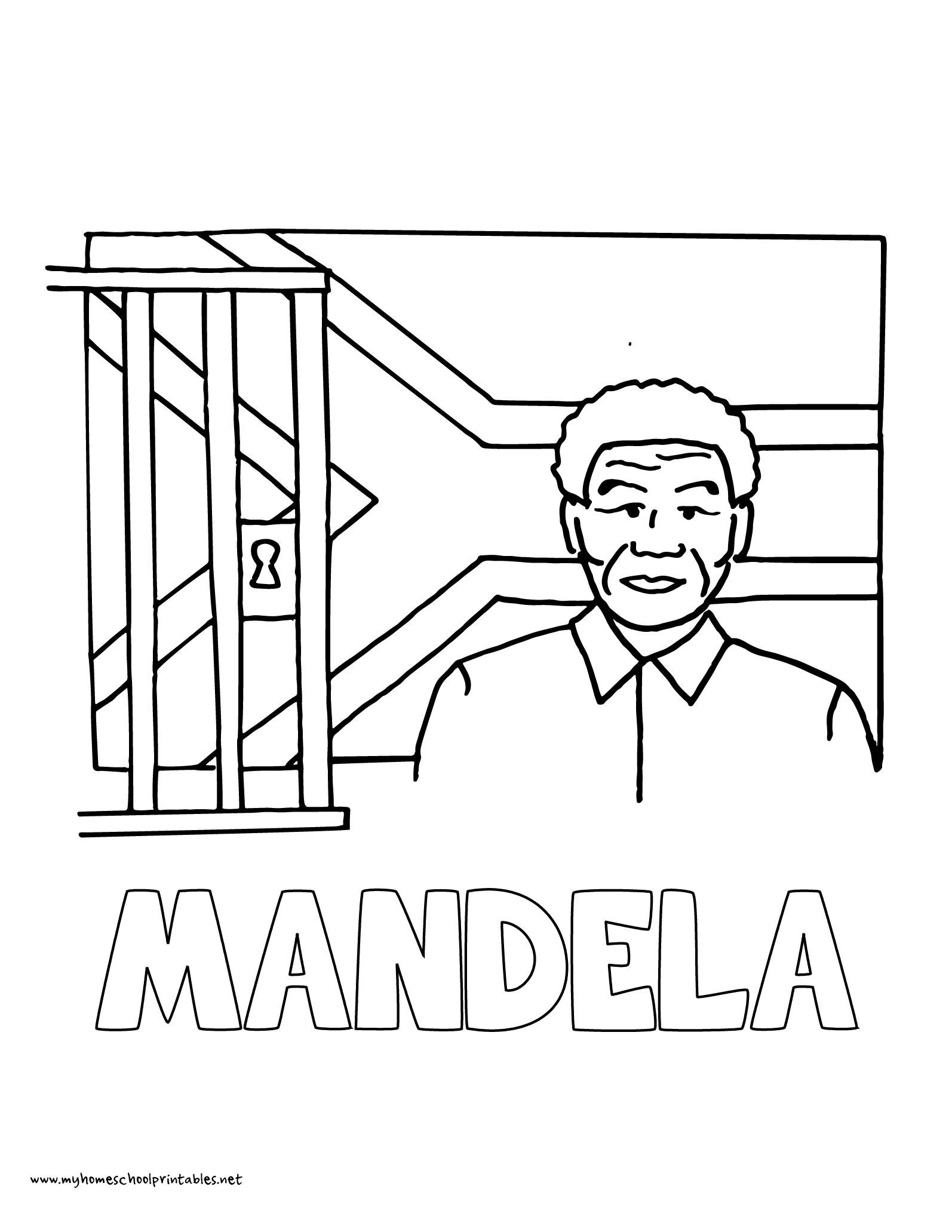 Nelson Mandela Coloring Page At Getcolorings