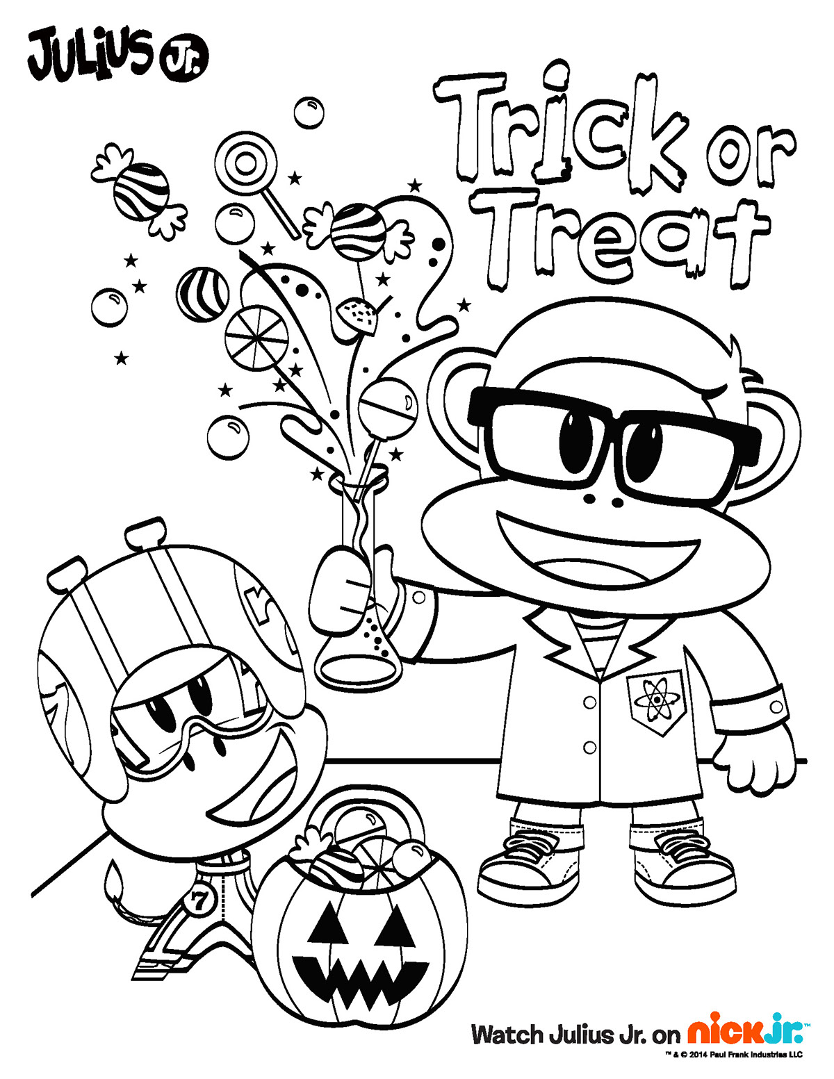 Nick Jr Halloween Coloring Pages At Getcolorings