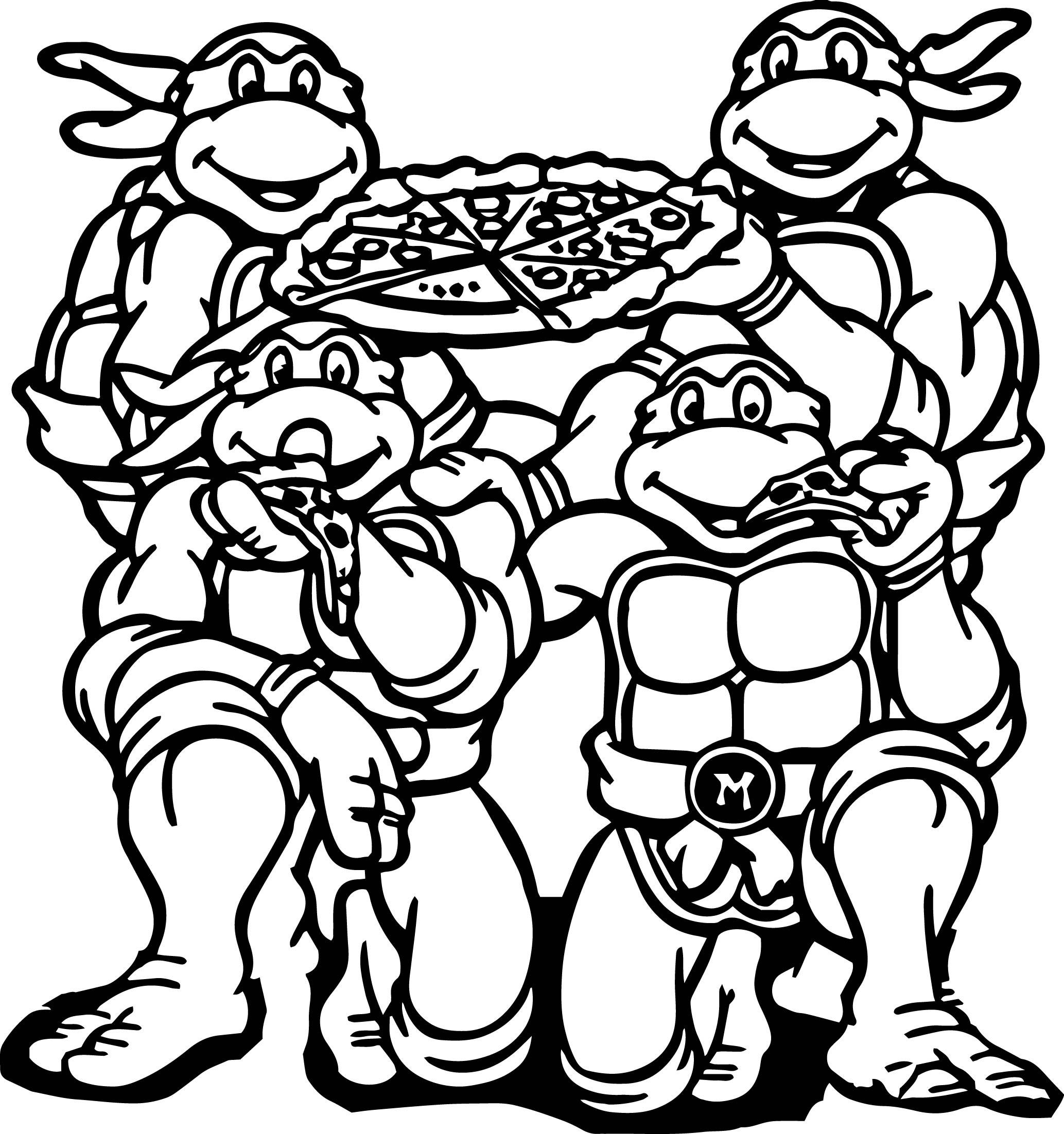 Ninja Turtles Coloring Pages Raphael At Getcolorings