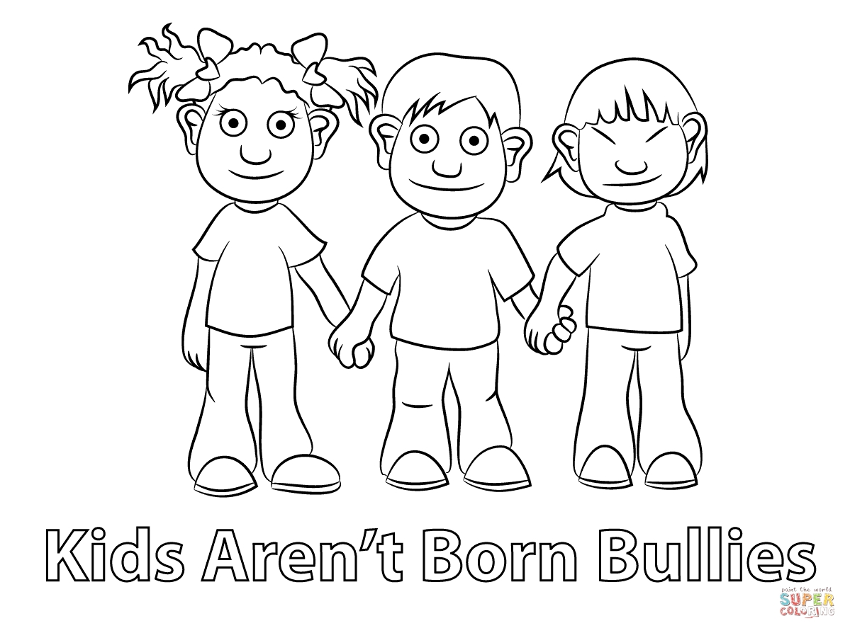 No Bullying Coloring Pages At Getcolorings