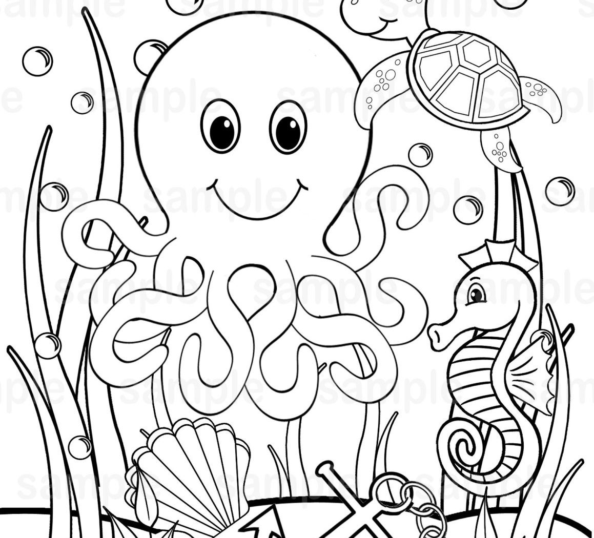 Ocean Coloring Pages For Kids Printable At Getcolorings