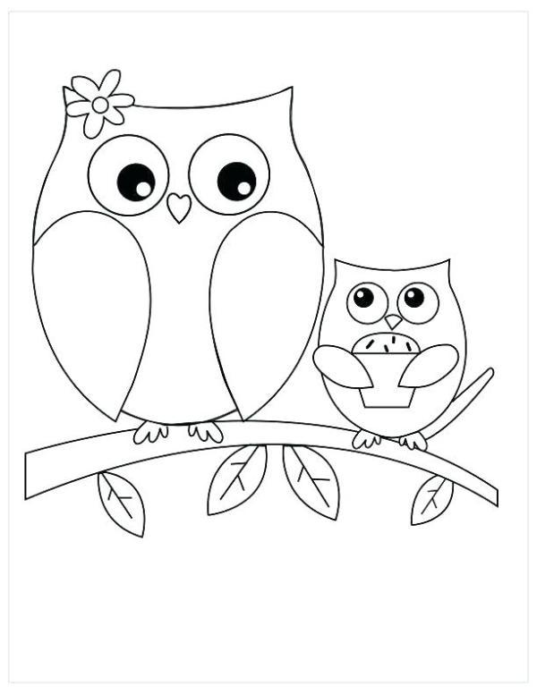 owl color pages # 42