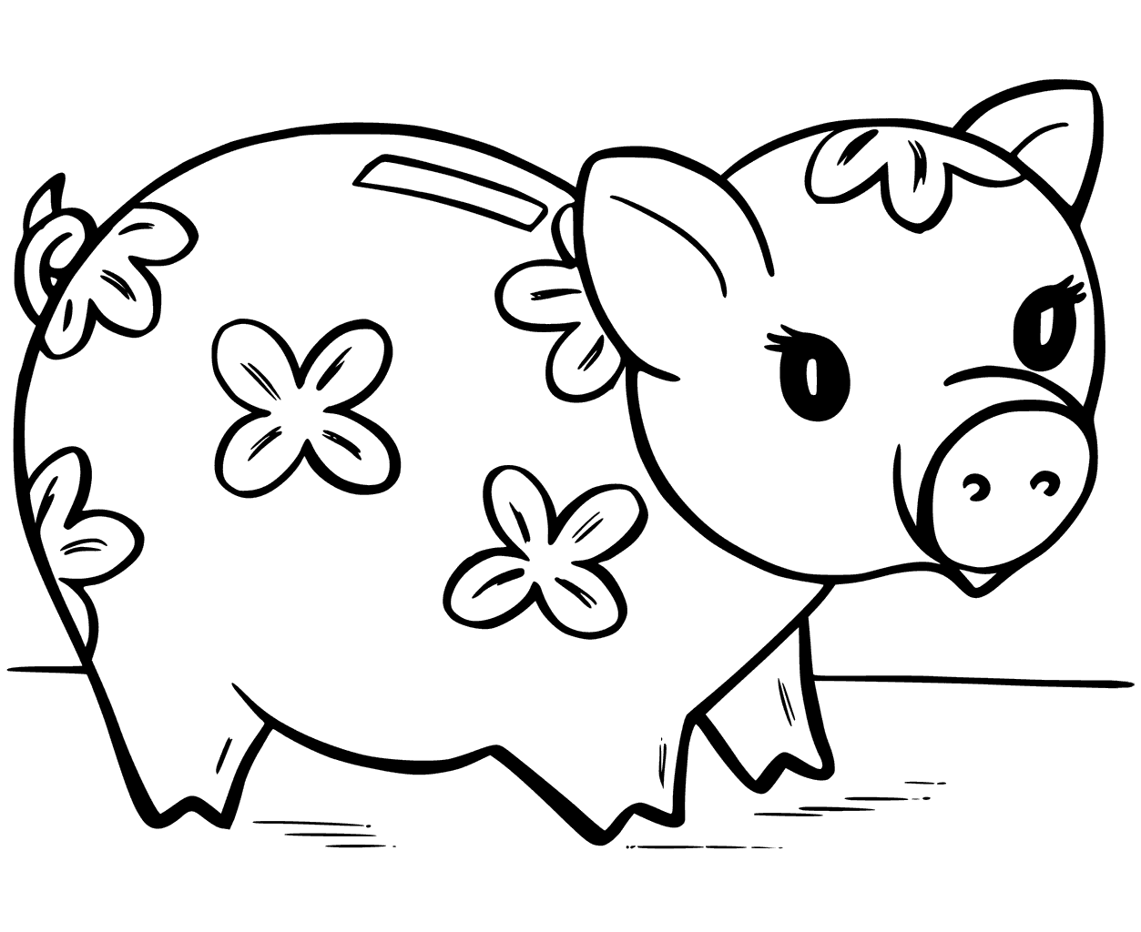 Piggy Bank Coloring Page At Getcolorings
