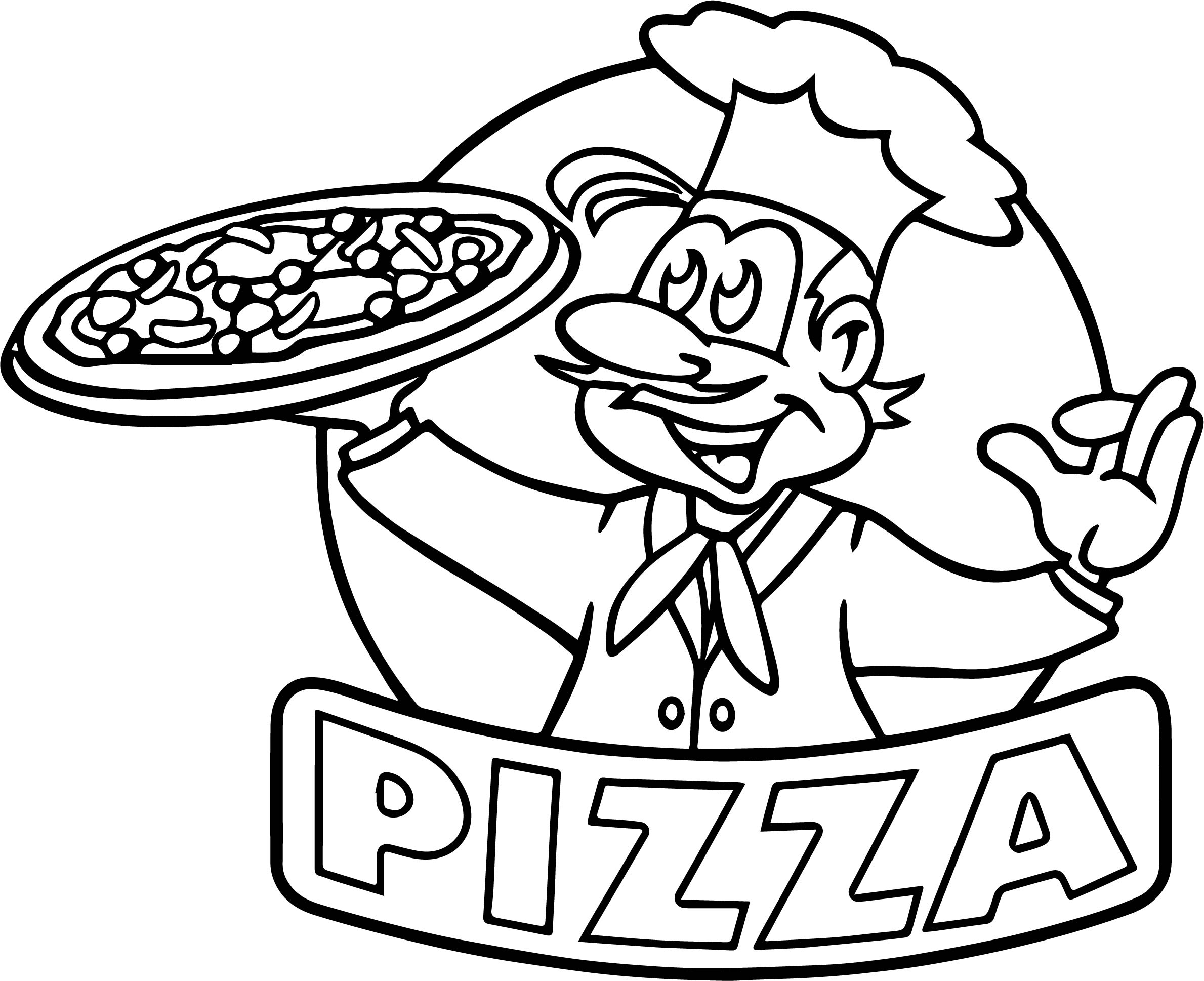 Pizza Coloring Pages Preschool At Getcolorings