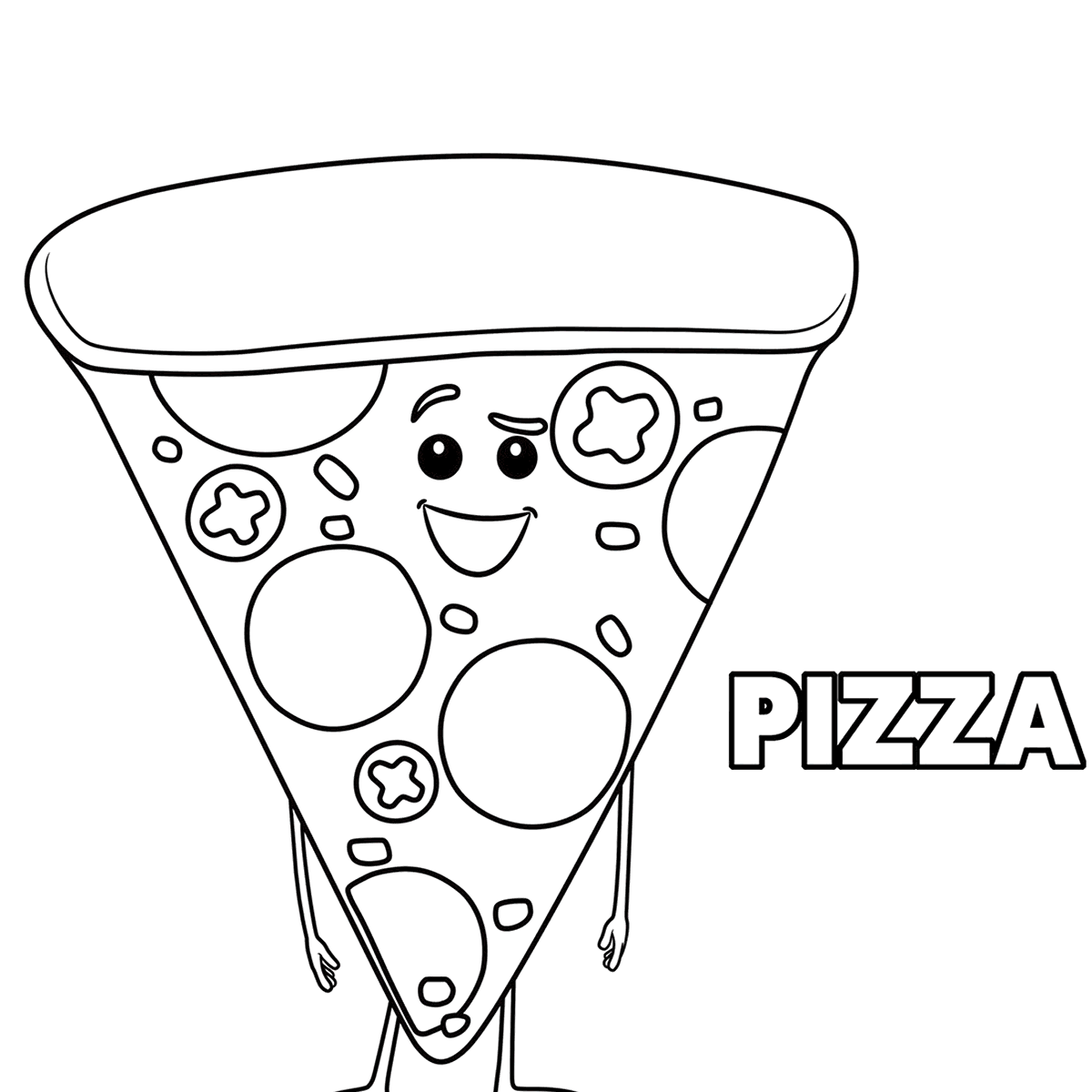 Pizza Toppings Coloring Pages At Getcolorings