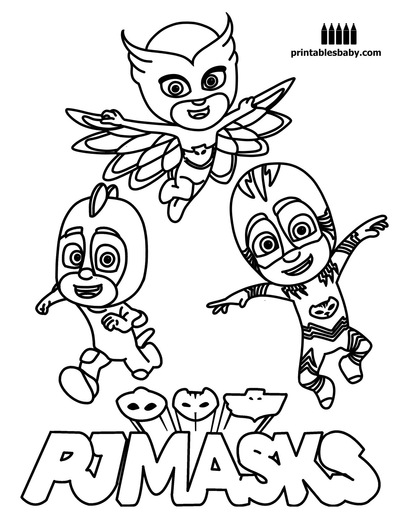 Pj Mask Owlette Coloring Pages At Getcolorings
