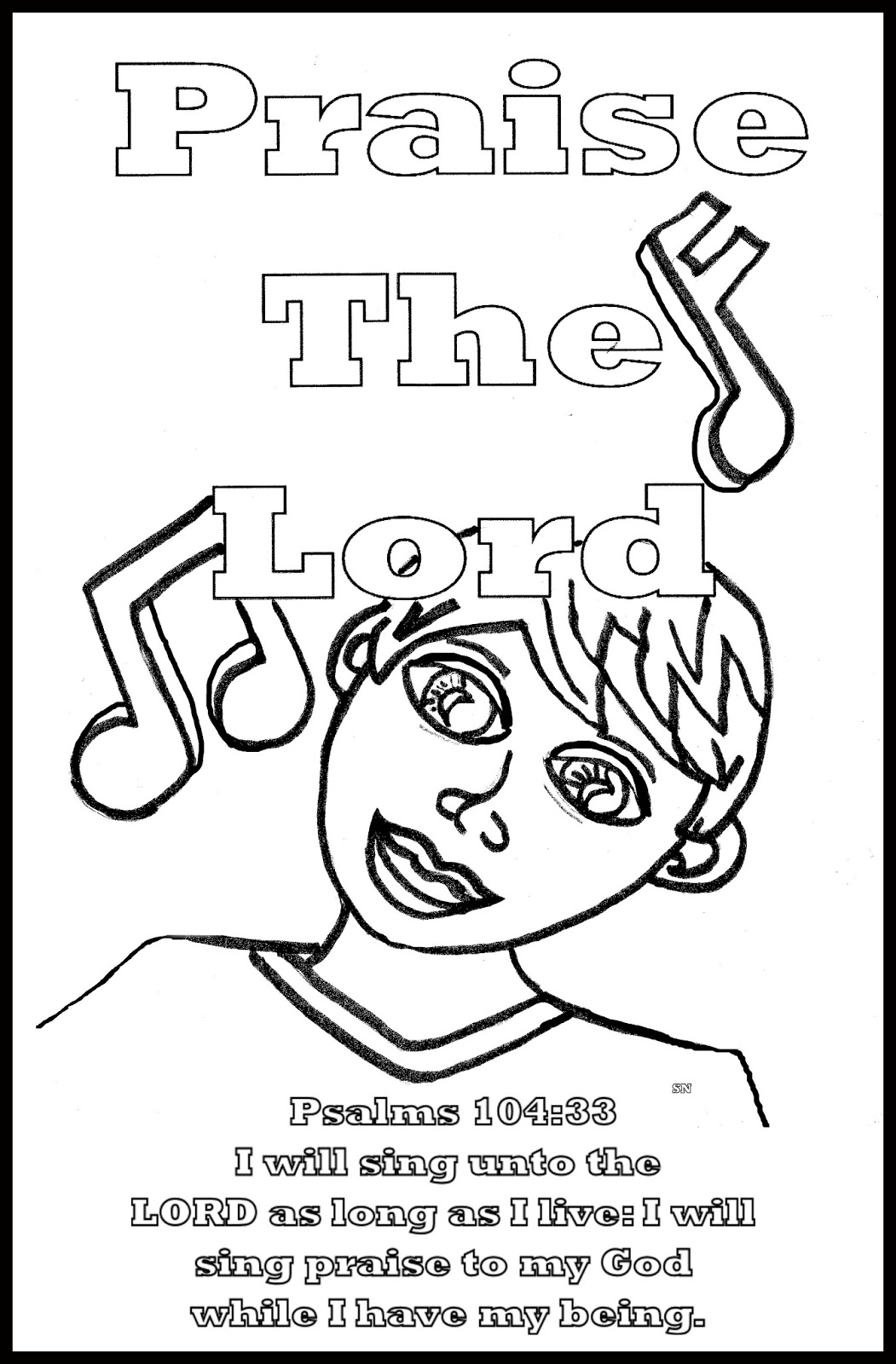 Praise Coloring Page At Getcolorings