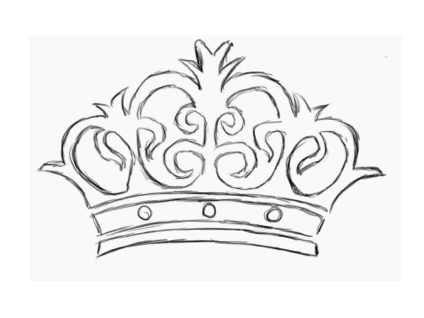 princess crown coloring page at getcolorings  free