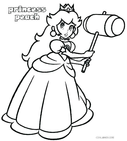 princess peach coloring pages at getcolorings  free