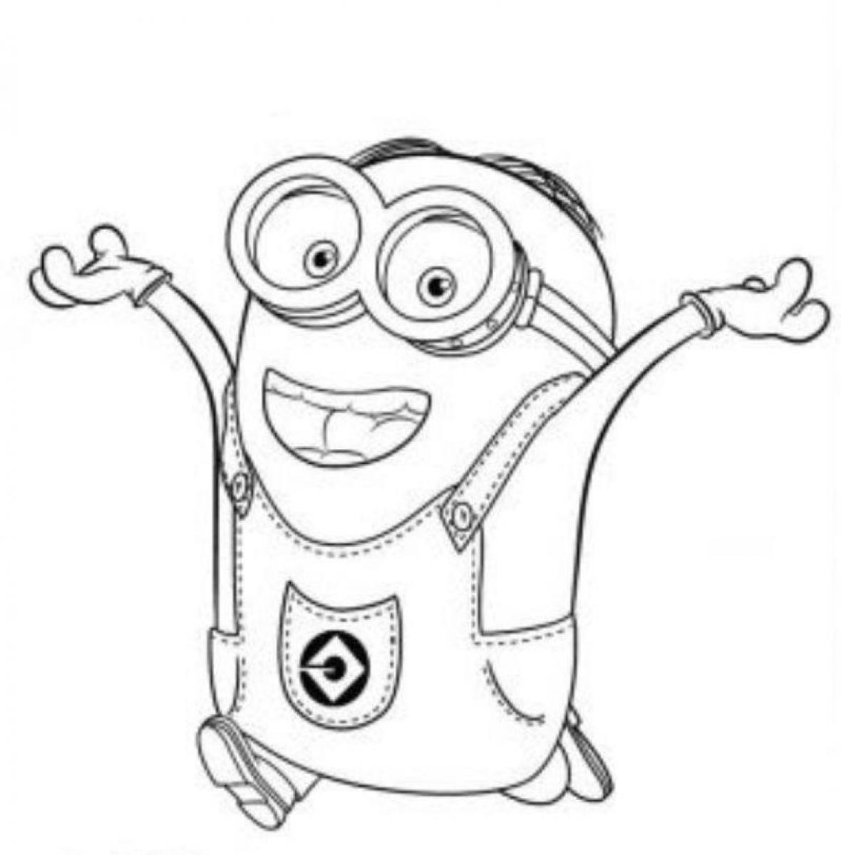 Purple Minion Coloring Page At Getcolorings