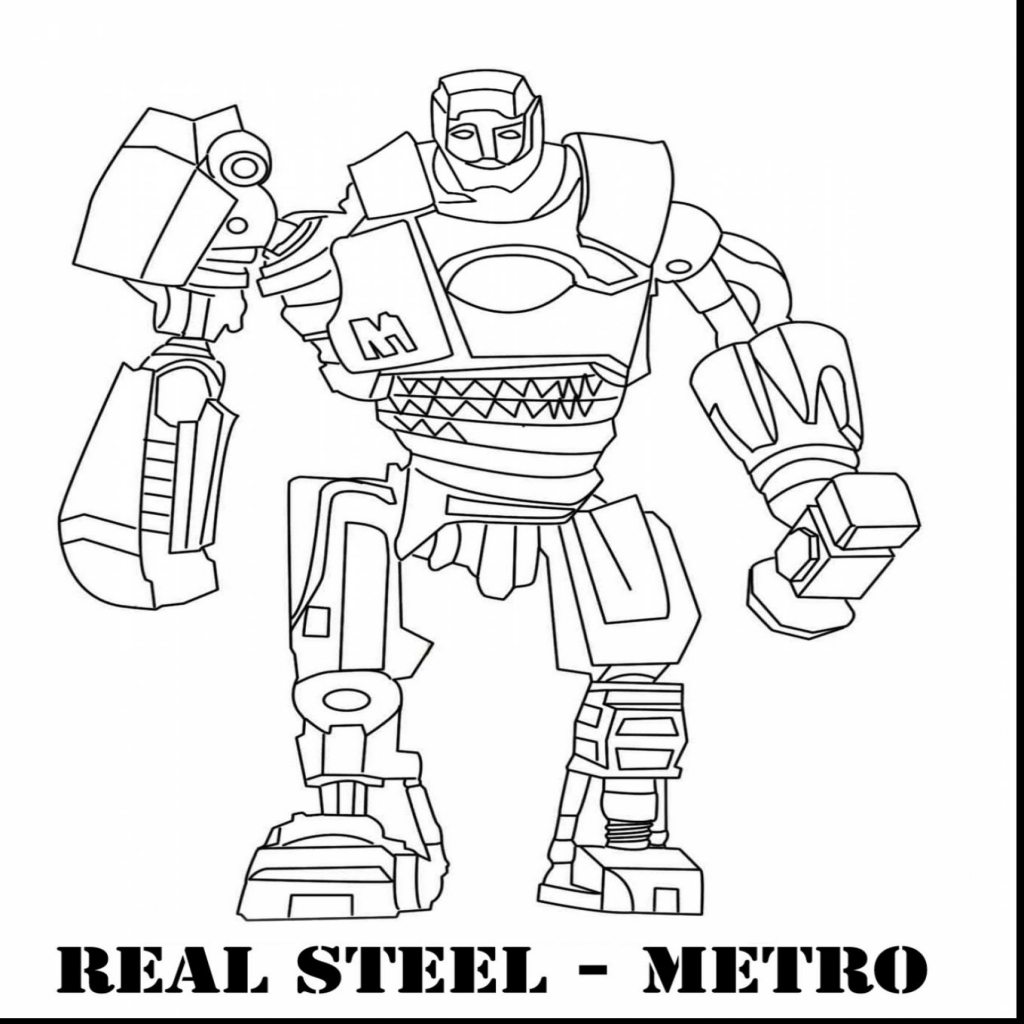 zeus real steel coloring pages | Real Steel Zeus Coloring Pages