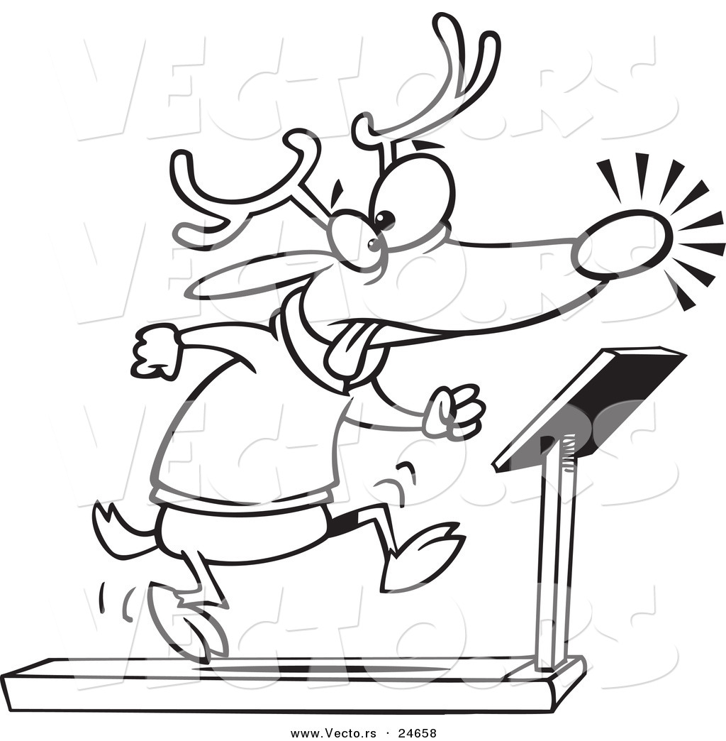 Treadmill Dimensions Drawing Sketch Coloring Page