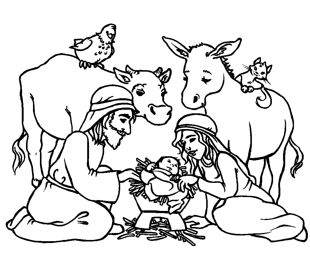 Religious Christmas Coloring Pages For Kids At
