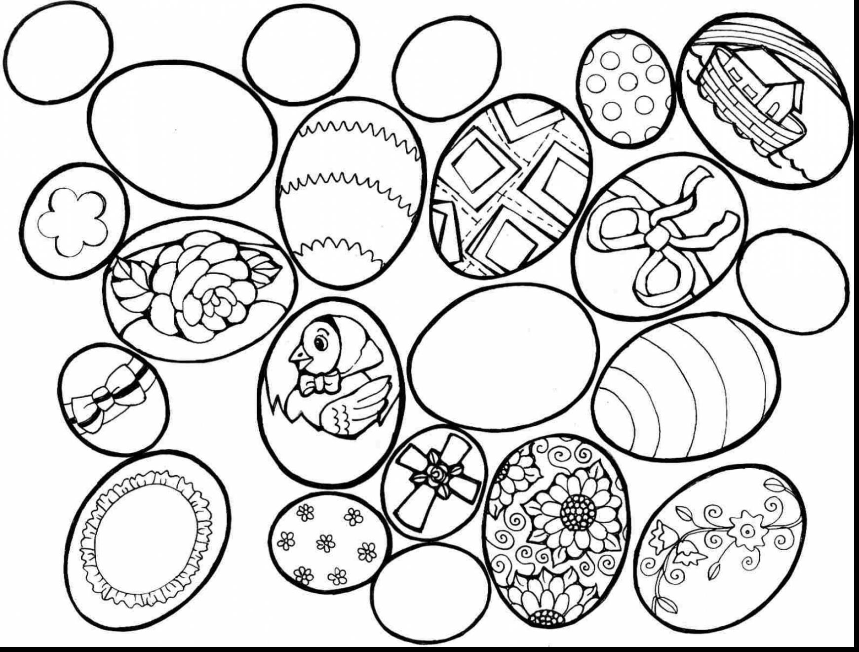 Religious Easter Egg Coloring Pages At Getcolorings