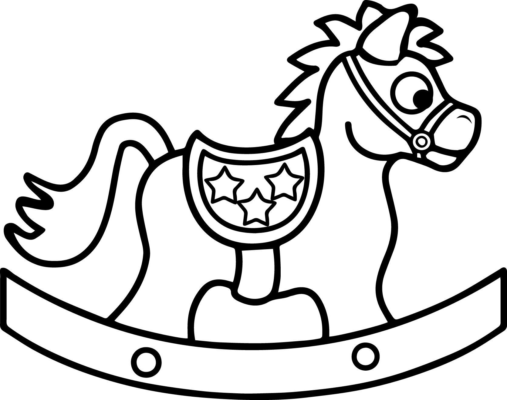 Rocking Horse Coloring Pages At Getcolorings