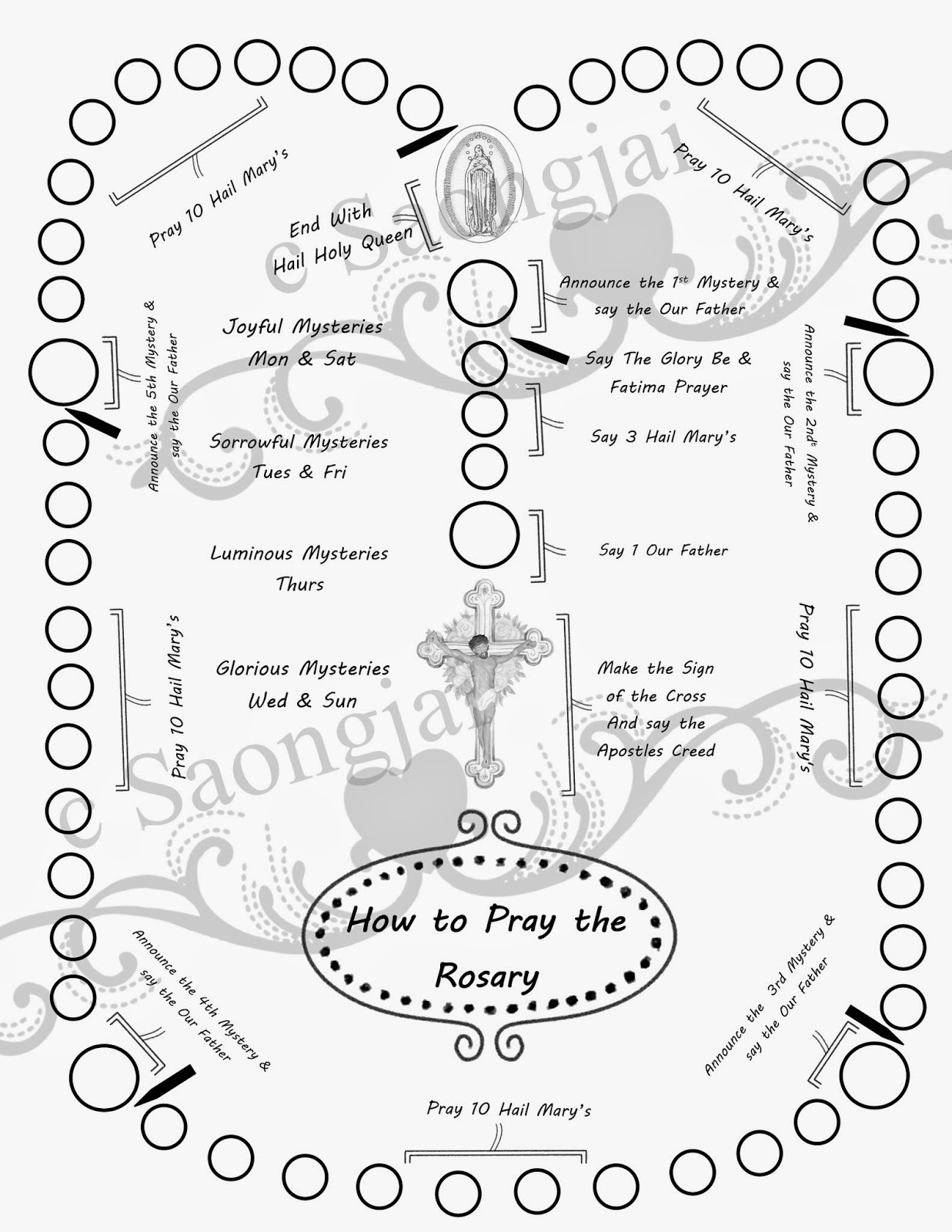 Rosary Beads Coloring Page At Getcolorings