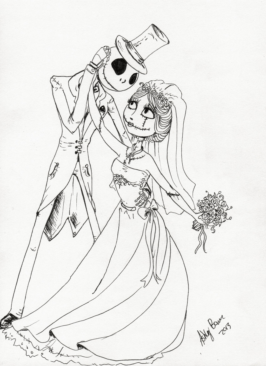 Jack And Sally Coloring Pages At Getcolorings