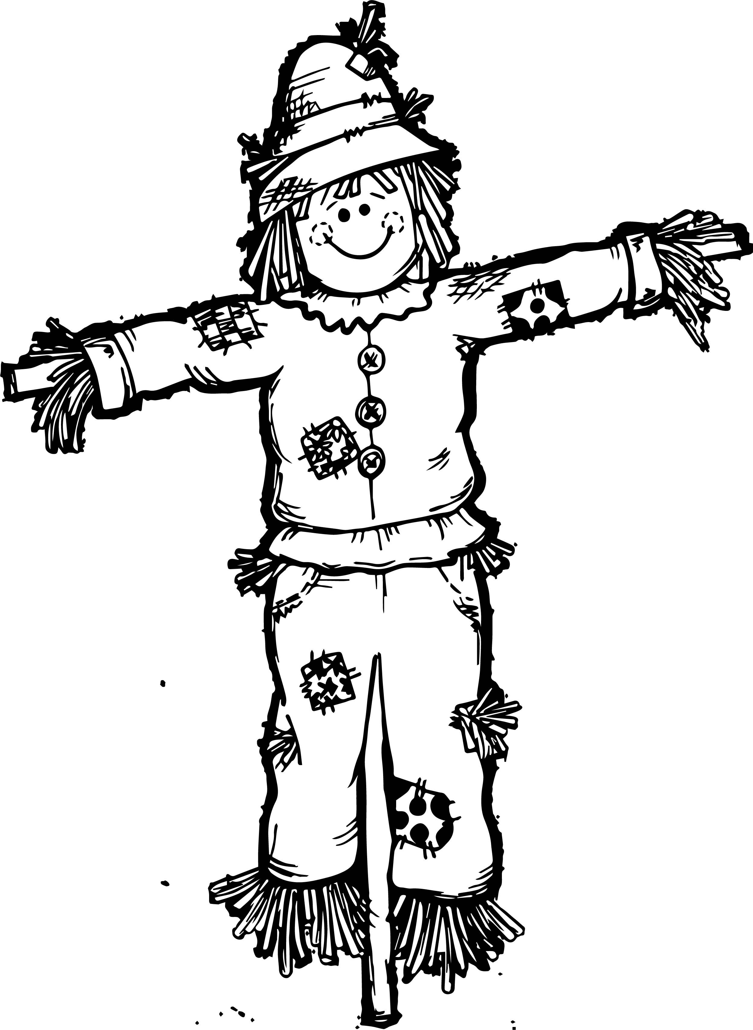 Scary Scarecrow Coloring Pages At Getcolorings