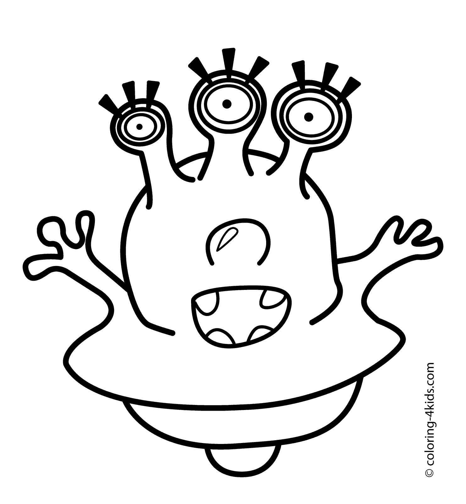 Scary Alien Coloring Pages At Getcolorings
