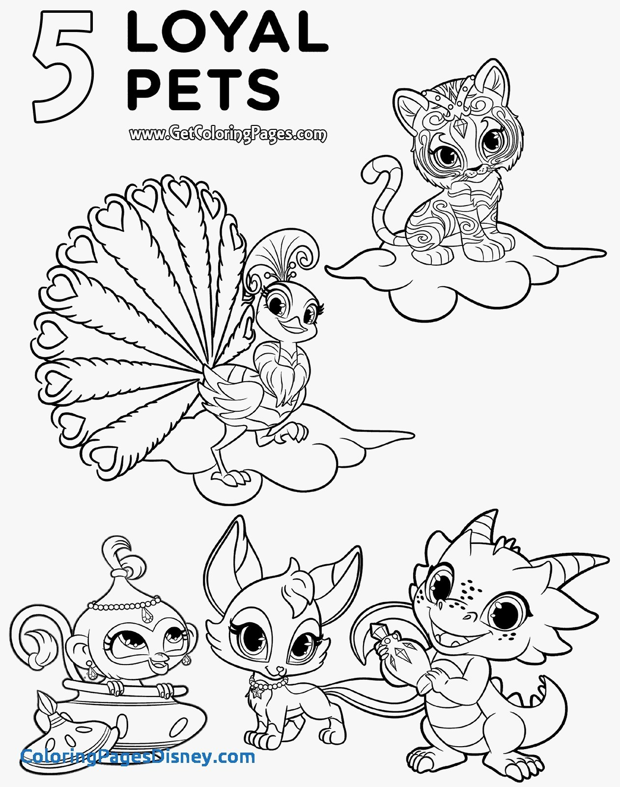 Shimmer Shine Coloring Pages At Getcolorings