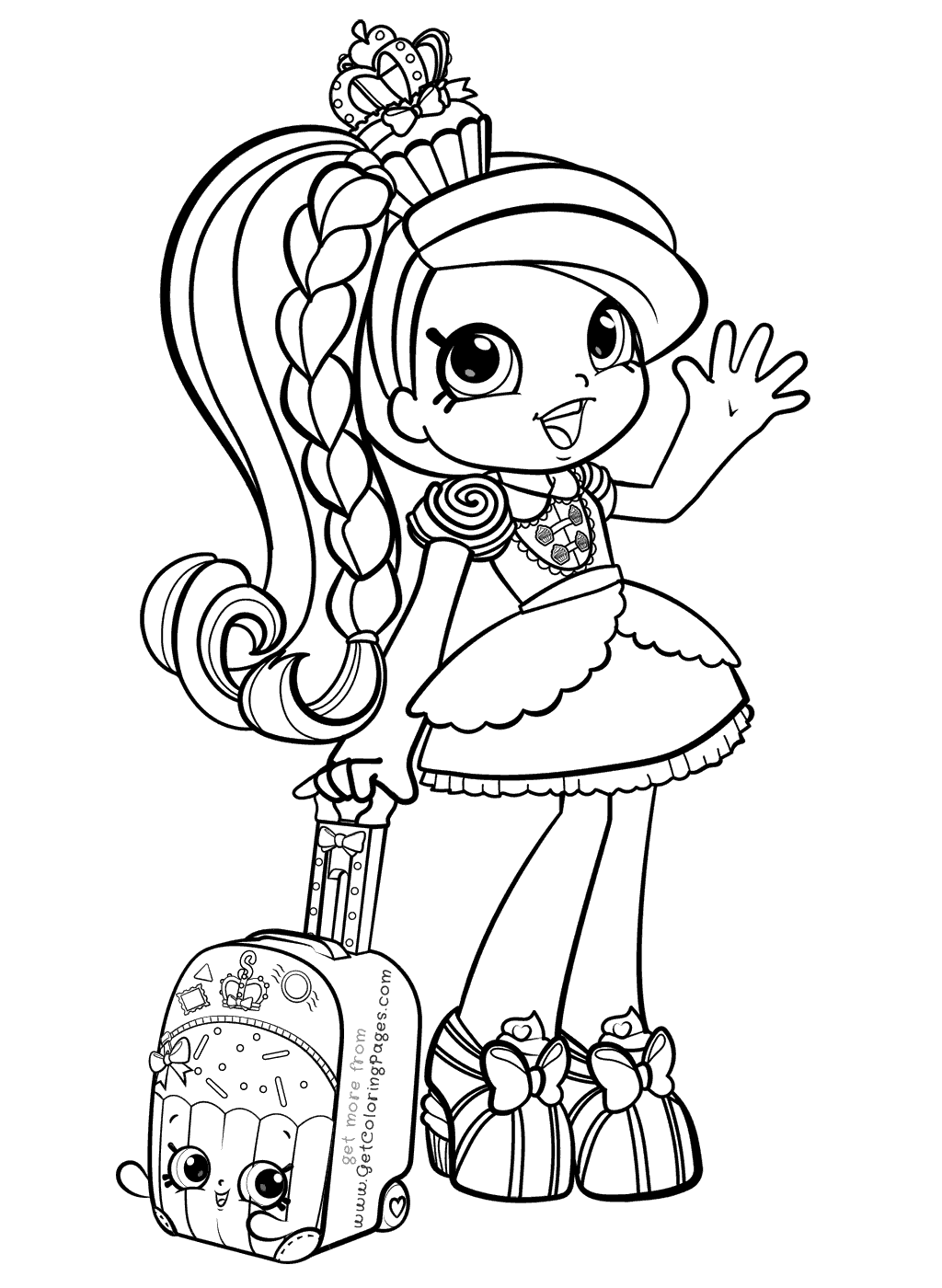 Shopkins Coloring Pages For Girls At Getcolorings