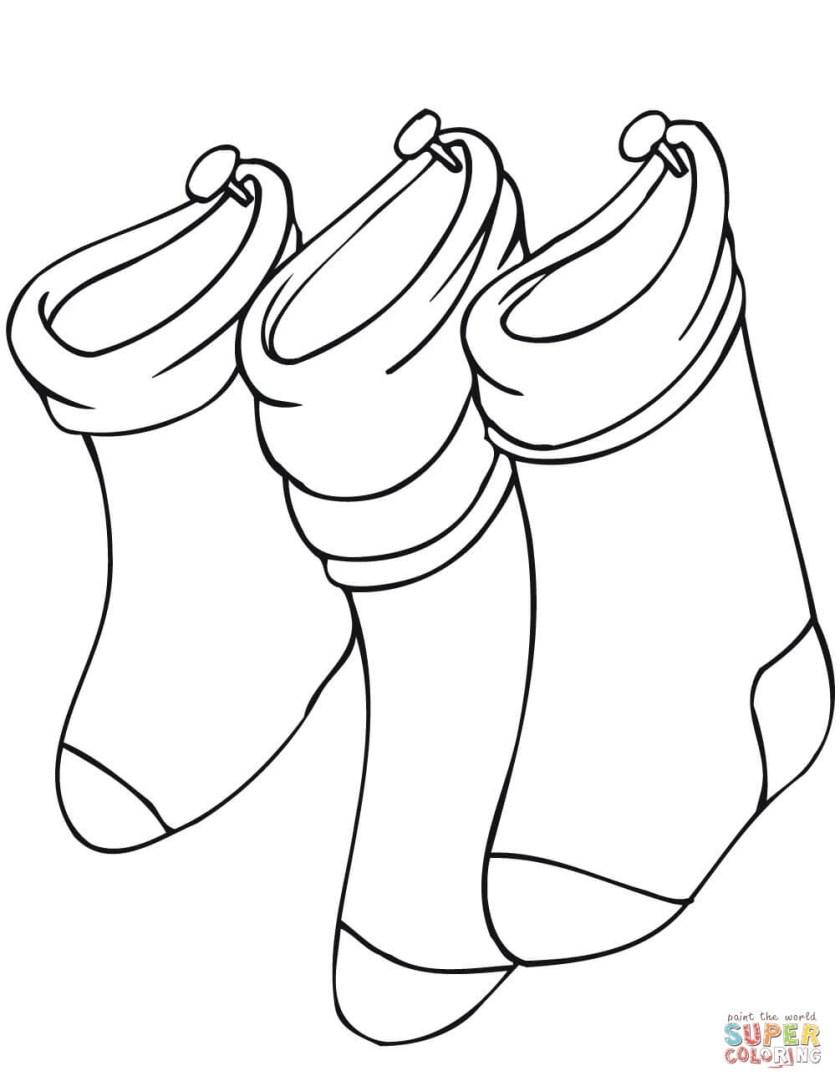 sock coloring page at getcolorings  free printable