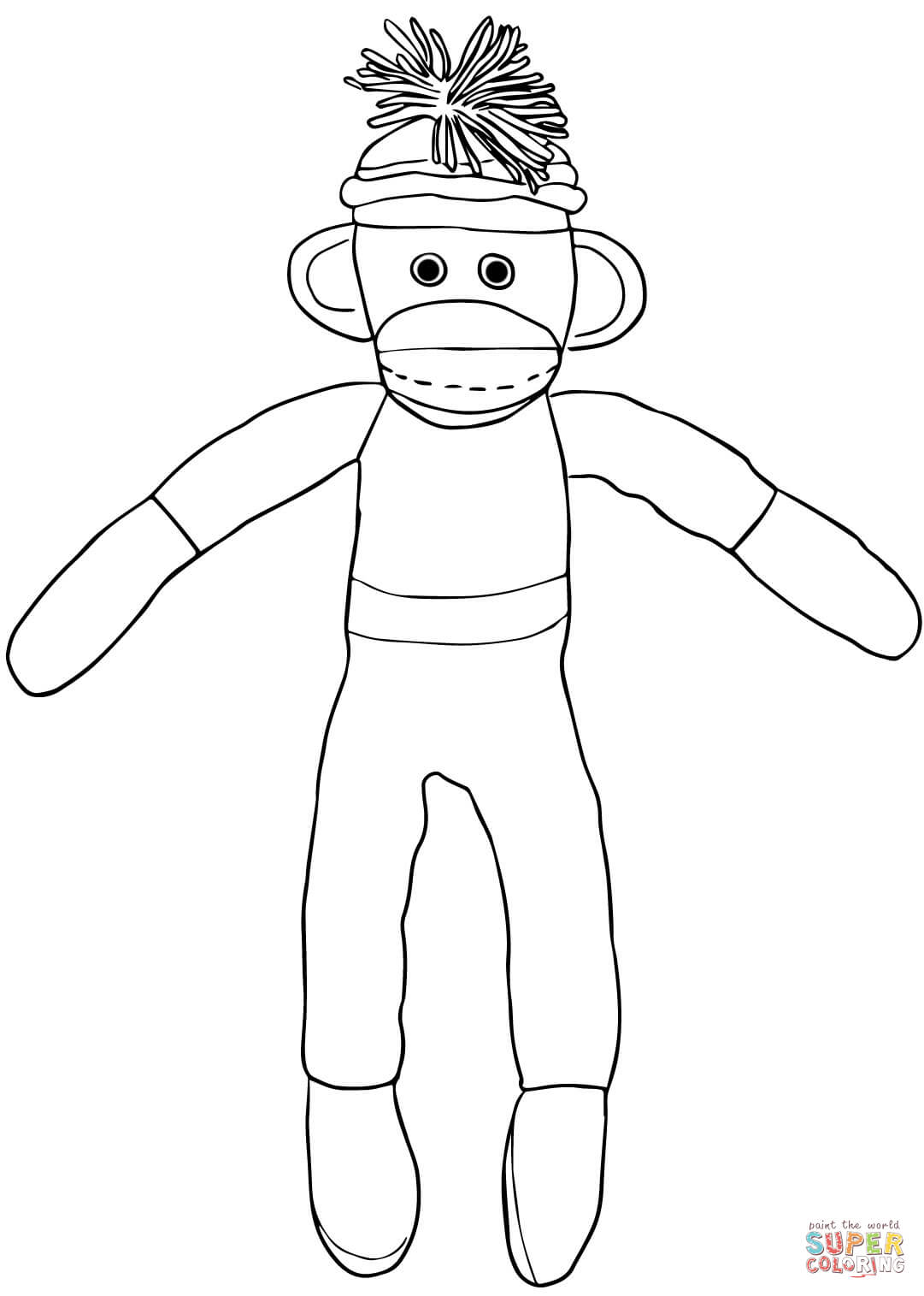 Long Socks Page Coloring Pages