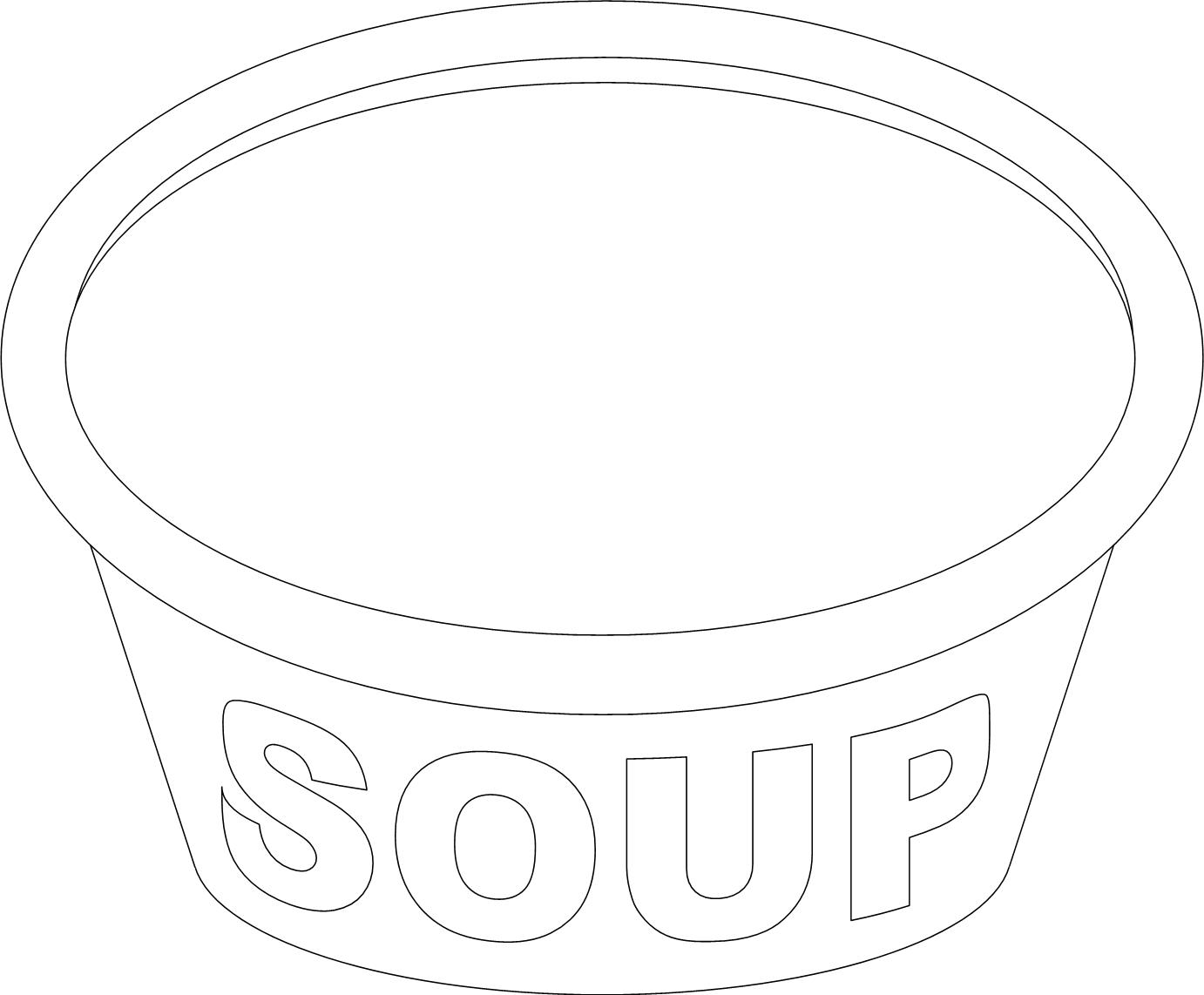 Soup Coloring Pages At Getcolorings